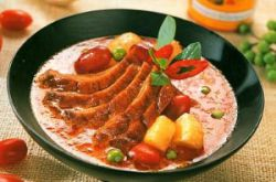 Canard au curry rouge